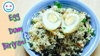 Hyderabadi Egg Biriyani | Simple & Quick Biriyani | Egg Dum Biriyani | Restaurant Style Biriyani