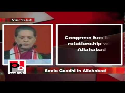 Sonia Gandhi in Allahabad, Uttar Pradesh, 8th February 2012, Part-6