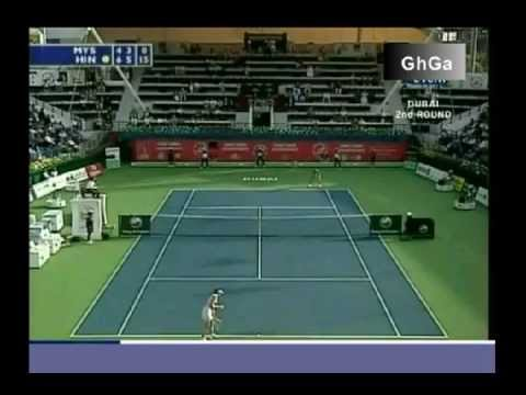 Martina Hingis vs Anastasia Myskina 2006 Dubai Highlights