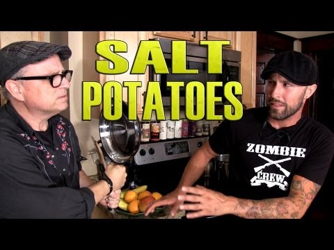 BOBCAT GOLDTHWAIT & Salt Potatoes - Cooking with The Vegan Zombie
