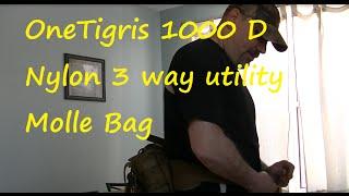 OneTigris1000D Nylon Waist Pack 3Way Modular deployment Utility Molle bag