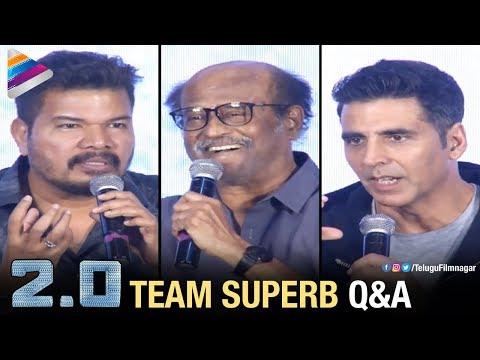 Rajinikanth, Akshay Kumar & Shankar SUPERB Q&A | 2.0 Movie Press Meet | 2 Point 0 | Telugu FilmNagar