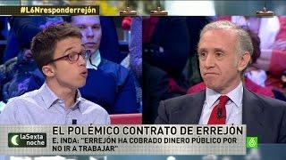 """Eduardo Inda, a Errejón: """"Has cobrado dinero público por no ir a trabajar"""""""