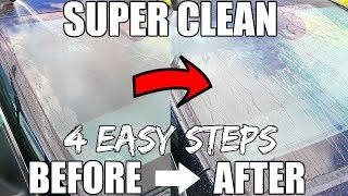 How To SUPER CLEAN Your Car Windshield