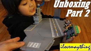 Unboxing Disney Planes Aircraft Carrier Set (Part 2 of 2)