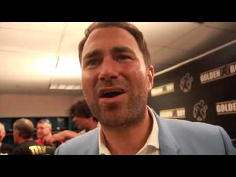 EDDIE HEARN REACTS TO KELL BROOK COMING IBF WORLD WELTERWEIGHT CHAMPION / BROOK v PORTER