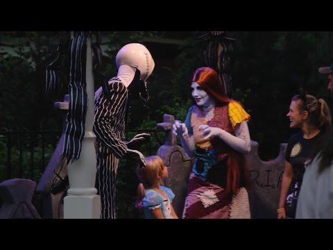 Meet Jack Skellington & Sally at Mickey's Not So Scary Halloween Party 2016. Walt Disney World