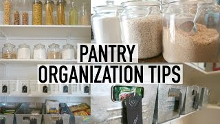 PANTRY ORGANIZATION + TOUR | 10 TIPS FOR AN ORGANIZED PANTRY | ORGANIZE WITH ME