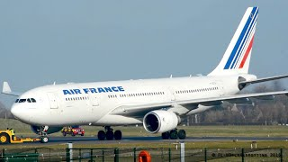MUST SEE - Air France A330 Go-around and Extreme Short Landing at Cambridge!
