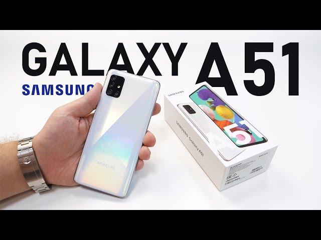 Распаковка Samsung Galaxy A51. Новый хит! / ОБЗОР Галакси А51