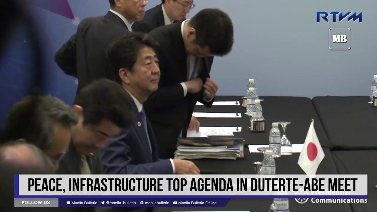 Peace, infrastructure top agenda in Duterte-Abe meet