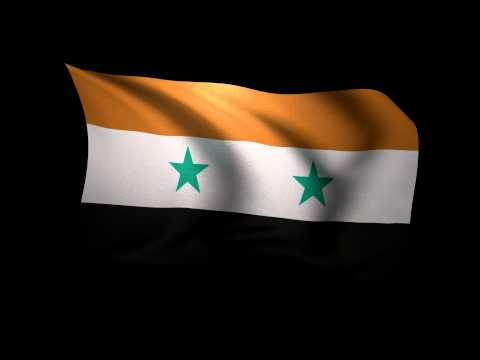 3D Rendering of the flag of Syria waving in the wind.
