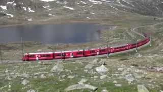 Bernina Express Cyckel Velo Bernina pass Schweiz 2328 m.