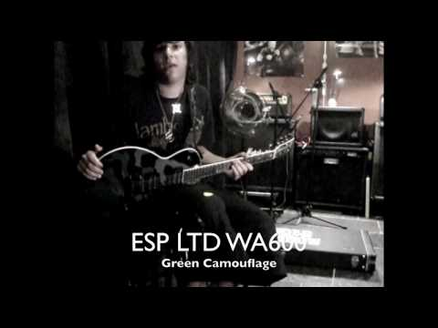 ESP LTD WA600 BLACK Camouflage Guitar Review