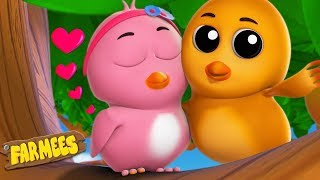 Two Little Dicky Birds | Kindergarten Nursery Rhymes | Cartoon Videos For Toddlers by Farmees