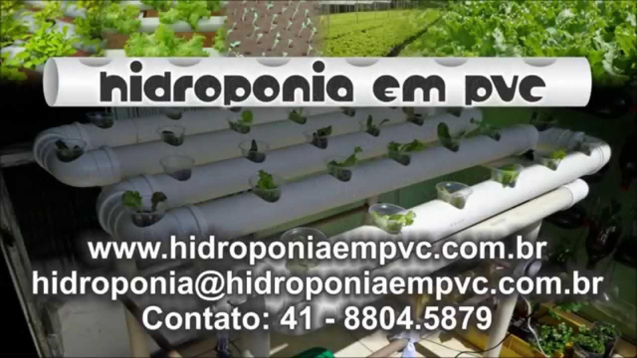 ... EM PVC, PROJETO HORTA EM CASA COM PRODUTOS HIDROP?NICOS - YouTube