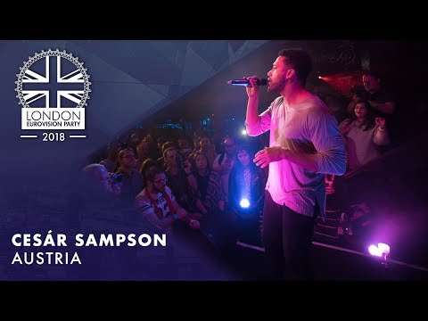 Cesár Sampson - Nobody But You - AUSTRIA | LIVE | OFFICIAL | 2018 London Eurovision Party