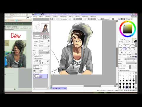 Speed Paint in SAI - Danisnotonfire and AmazingPhil