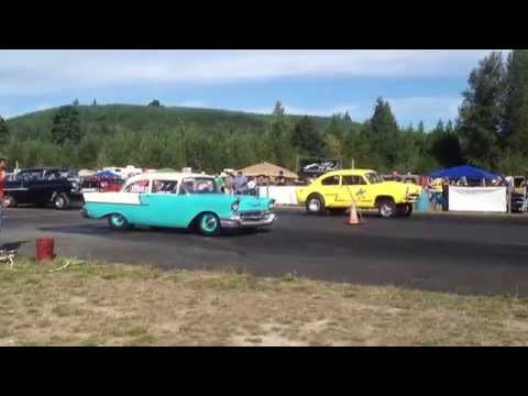 GETTMAN'S HENRY J VS 57' CHEVY BILLETPROOF ERUPTION DRAGS TOUTLE, WA 2013