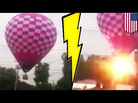 VIDEO: Hot air balloon, sumabit sa power lines at...