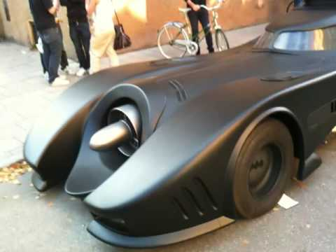 Batmobile replica spotted in Stockholm, Sweden