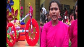 Art Exhibition With Items Around Home   Sri Venkateshwara College In West Godavari