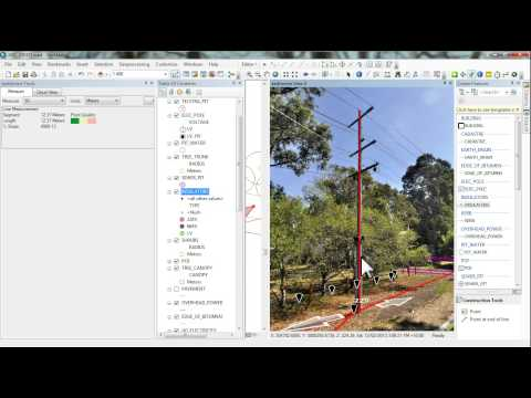 Pole Asset and Attribution mapping using GT AIMS 3D (liDAR and earthmine)
