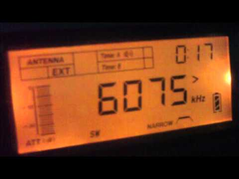 6075 kHz Radio Taiwan International , in Chinese Language Kouhu / Taiwan 6075千赫中央广播电台,中国语言口湖/台