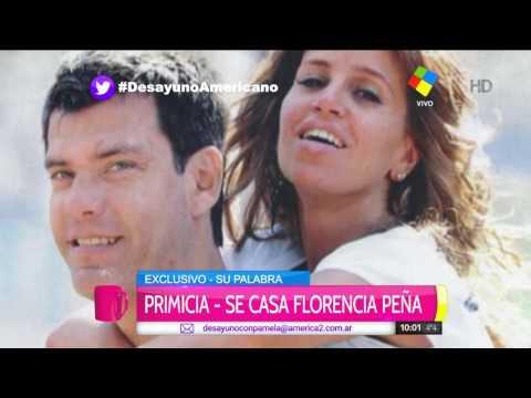 Florencia Peña anunció su casamiento con Ramiro Ponce de León