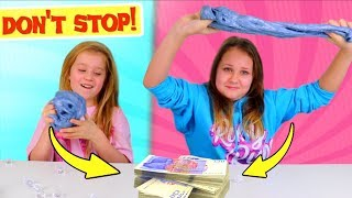 Last One To Play with Slime Wins $100.00 Challenge