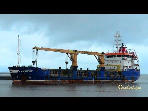 coaster SANMARI 9HA2875 IMO 9418470 inbound Emden crane cargo seaship merchant vessel KüMo