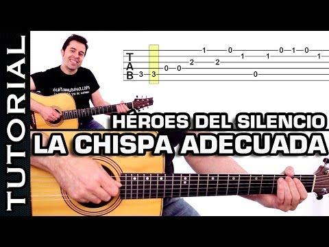 Héroes Del Silencio - La Chispa Adecuada MUY FACIL En Guitarra Acordes Tutorial Completo