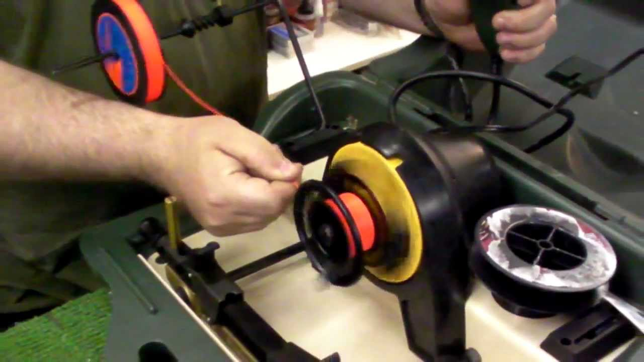 How to spool a fly reel with fly line and backing for Electric fishing line spooler
