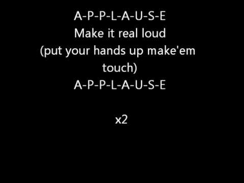 Applause - Lady Gaga Official Lyrics - YouTube | 480 x 360 jpeg 7kB