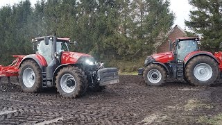 New Case-IH Optum 300 en 270 CVX working in the field with Evers Agro Trekkerweb