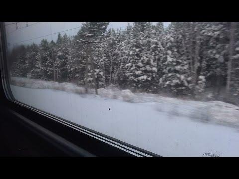 Вид из окна скорого поезда №295Г Казань - Москва. От Канаша до Сергача.