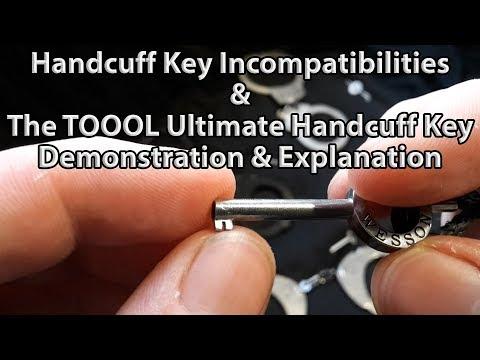 Handcuff Key Incompatibility & The TOOOL Ultimate Handcuff Key Demo / Explanation