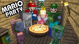 Mario Party Challenge for Monster School - minecraft animation