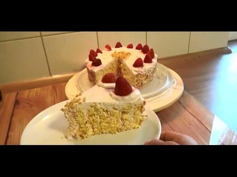 Kolay Çilekli Yaş Pasta Tarifi
