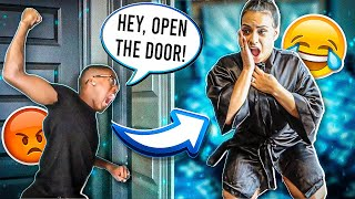 CHEATING WITH THE DOOR LOCKED PRANK ON HUSBAND!!