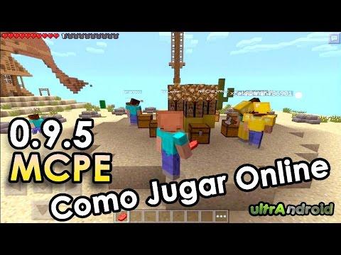 Como Jugar Online Multijugador Juegos del Hambre Minecraft Pocket Edition 0.9.5 y 0.10.0 2014