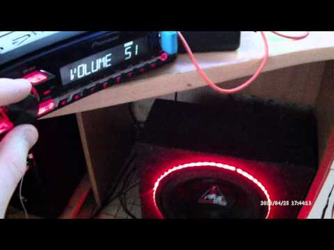 Как настроить pioneer mvh - 150ub под сабвуфер 500ватт?