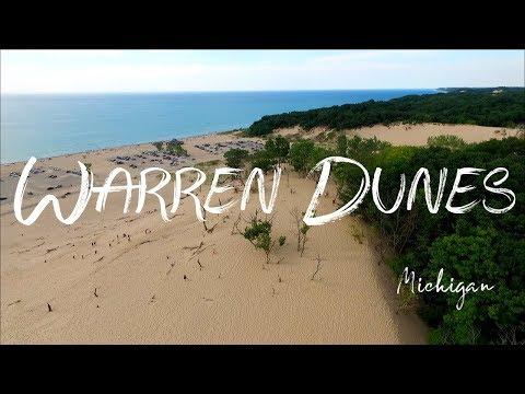 Warren Dunes State Park MI by drone