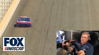 Bobby Labonte takes some laps around Indianapolis on the iRacing simulator | NASCAR on FOX