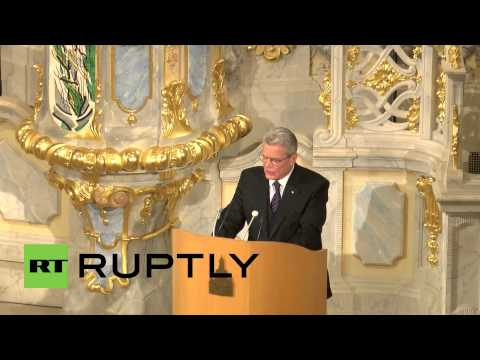 Germany: Gauck urges tolerance at Dresden bombing commemoration
