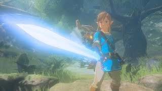 Zelda Breath of the Wild - TRUE MASTER SWORD RESTORED 60DMG! Trial of the Sword DLC ENDING!