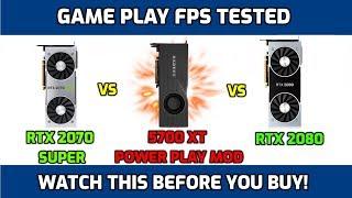 RX 5700 XT Power Play Mod (igorsLab) vs RTX 2070 Super vs RTX 2080 Benchmark FPS Test in Games