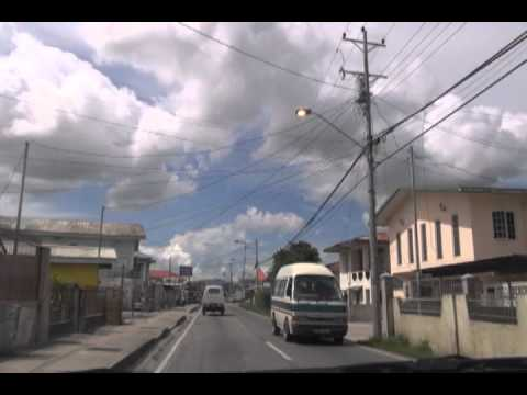 DRIVING THROUGH ENTERPRISE CHAGUANAS