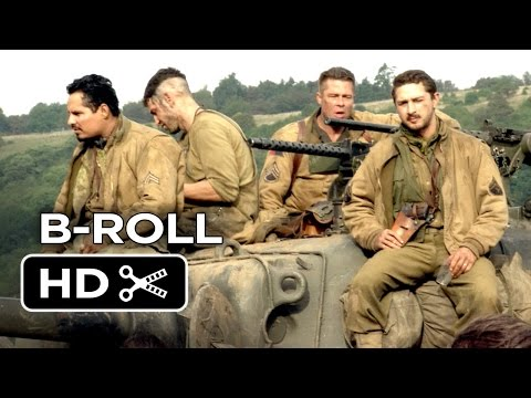 Fury B-ROLL (2014) - Brad Pitt, Logan Lerman War Movie HD