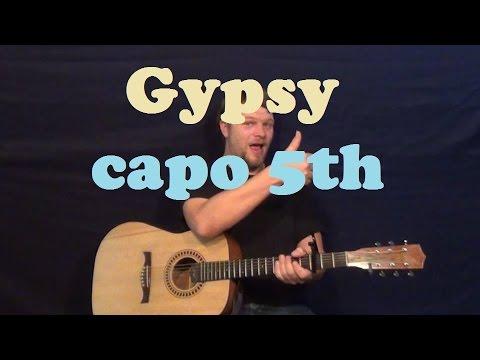 Gypsy (Fleetwood Mac) Guitar Lesson Easy Strum Chords How to Play Tutorial CFG Am